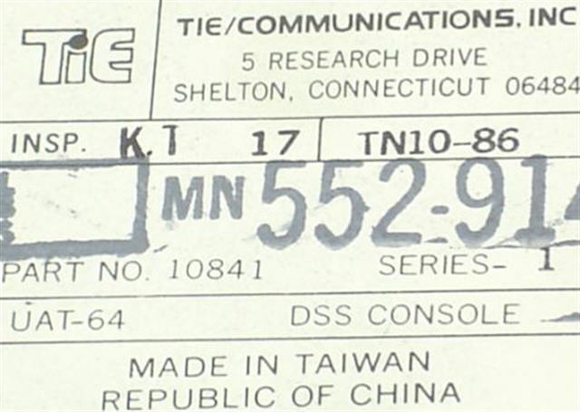 Tie 10841 - UAT-64 DSS (B-Stock) Module image