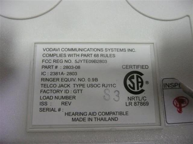 2803-08 (NIB) Vertical Vodavi image