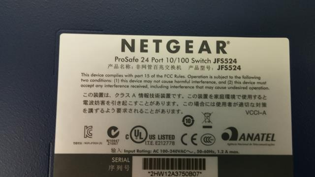 JFS524 Unmanaged Netgear image