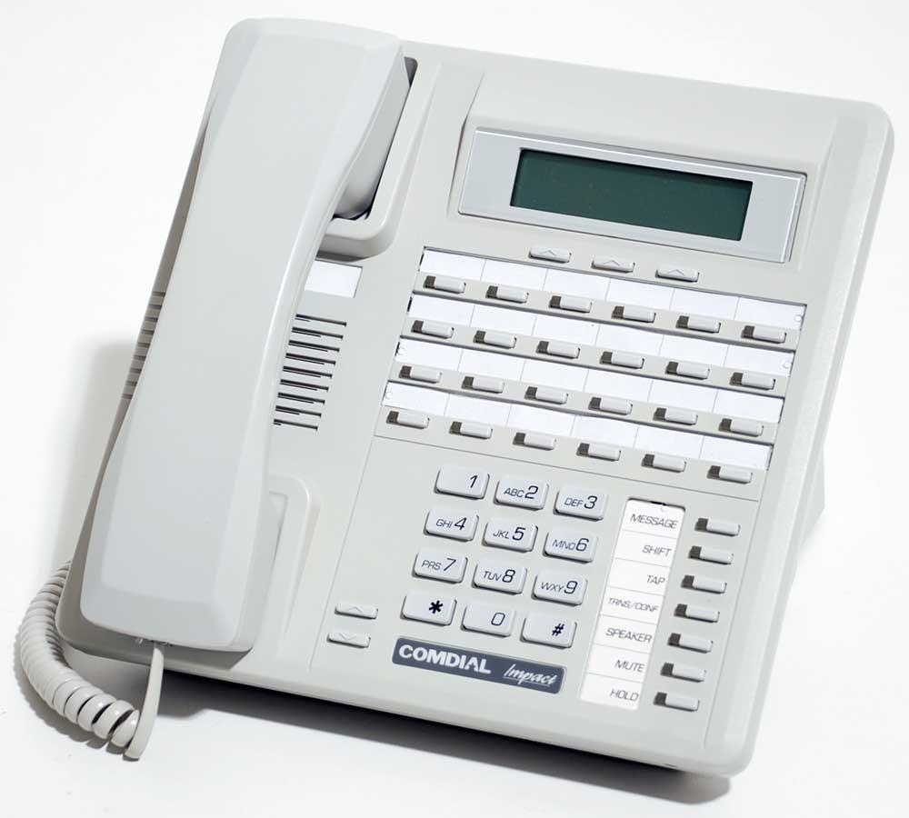 Comdial Impact SCS 8324SJ-FB Platinum Grey 24 Button Digital Telephone with Speakerphone, Display and Auxiliary Jack image